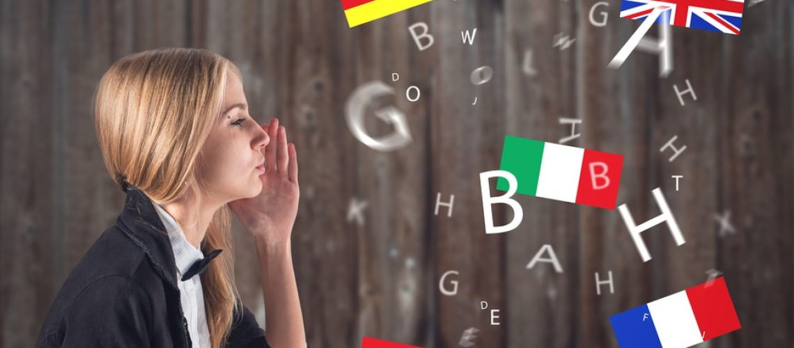 Girl Learning Foreign Languages